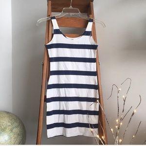 H&M Navy & White Striped Bodycon Dress